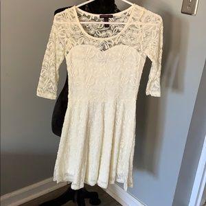 A petite lace dress